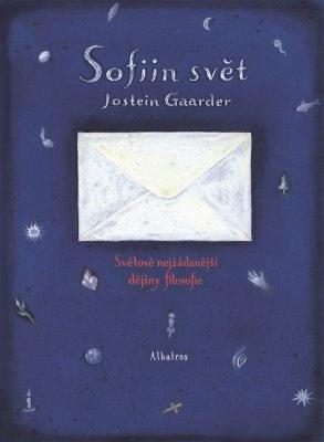 """Jostein Gaarder: Sofiin svět. Pokud si chcete e-knihu vypůjčit, klikněte na název města, ve kterém se nachází vaše knihovna, v sekci """"Vyhledat e-knihu v knihovně""""."""