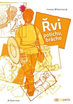"""Ivona Březinová: Řvi potichu, brácho. Pokud si chcete e-knihu vypůjčit, klikněte na název města, ve kterém se nachází vaše knihovna, v sekci """"Vyhledat e-knihu v knihovně""""."""