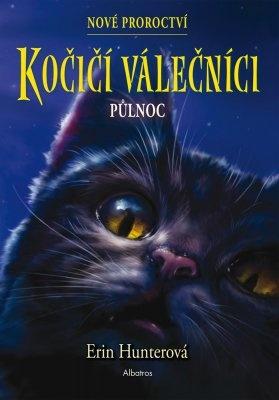 """Erin Hunterová: Kočičí válečníci: Nové proroctví (1) - Půlnoc. Pokud si chcete e-knihu vypůjčit, klikněte na název města, ve kterém se nachází vaše knihovna, v sekci """"Vyhledat e-knihu v knihovně""""."""