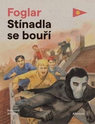 """Jaroslav Foglar: Stínadla se bouří. Pokud si chcete e-knihu vypůjčit, klikněte na název města, ve kterém se nachází vaše knihovna, v sekci """"Vyhledat e-knihu v knihovně""""."""