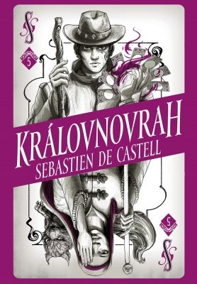 """Sebastien de Castell: Divotvůrce 5: Královnovrah. Pokud si chcete e-knihu vypůjčit, klikněte na název města, ve kterém se nachází vaše knihovna, v sekci """"Vyhledat e-knihu v knihovně""""."""