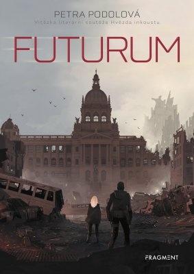 """Petra Podolová: Futurum. Pokud si chcete e-knihu vypůjčit, klikněte na název města, ve kterém se nachází vaše knihovna, v sekci """"Vyhledat e-knihu v knihovně""""."""