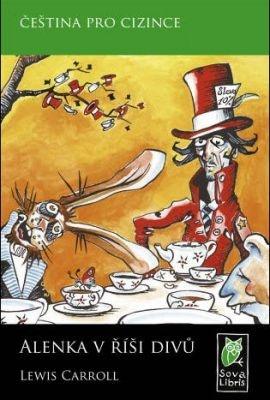 """Lewis Carroll, Petra Sůvová: Alenka v říši divů. Pokud si chcete e-knihu vypůjčit, klikněte na název města, ve kterém se nachází vaše knihovna, v sekci """"Vyhledat e-knihu v knihovně""""."""