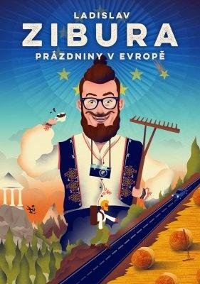 """Ladislav Zibura: Prázdniny v Evropě. Pokud si chcete e-knihu vypůjčit, klikněte na název města, ve kterém se nachází vaše knihovna, v sekci """"Vyhledat e-knihu v knihovně""""."""