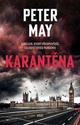 """Peter May: Karanténa. Pokud si chcete e-knihu vypůjčit, klikněte na název města, ve kterém se nachází vaše knihovna, v sekci """"Vyhledat e-knihu v knihovně""""."""