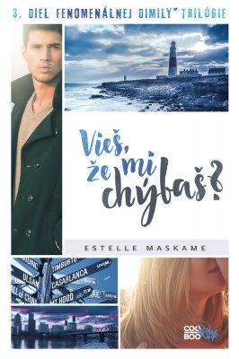 """Estelle Maskame: Vieš, že mi chýbaš?. Pokud si chcete e-knihu vypůjčit, klikněte na název města, ve kterém se nachází vaše knihovna, v sekci """"Vyhledat e-knihu v knihovně""""."""