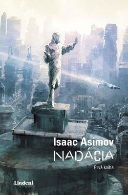 """Isaac Asimov: Nadácia. Pokud si chcete e-knihu vypůjčit, klikněte na název města, ve kterém se nachází vaše knihovna, v sekci """"Vyhledat e-knihu v knihovně""""."""
