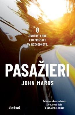 """John Marrs: Pasažieri. Pokud si chcete e-knihu vypůjčit, klikněte na název města, ve kterém se nachází vaše knihovna, v sekci """"Vyhledat e-knihu v knihovně""""."""