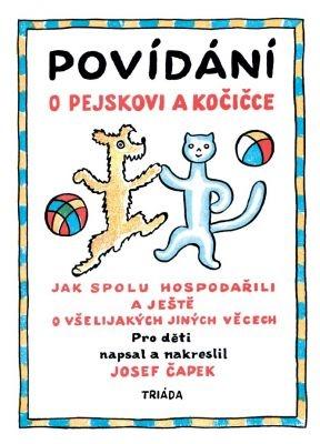 """Josef Čapek: Povídání o pejskovi a kočičce. Pokud si chcete e-knihu vypůjčit, klikněte na název města, ve kterém se nachází vaše knihovna, v sekci """"Vyhledat e-knihu v knihovně""""."""