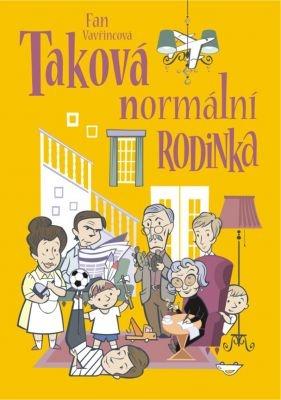 """Fan Vavřincová: Taková normální rodinka. Pokud si chcete e-knihu vypůjčit, klikněte na název města, ve kterém se nachází vaše knihovna, v sekci """"Vyhledat e-knihu v knihovně""""."""