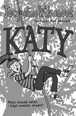 """Jacqueline Wilsonová: Katy. Pokud si chcete e-knihu vypůjčit, klikněte na název města, ve kterém se nachází vaše knihovna, v sekci """"Vyhledat e-knihu v knihovně""""."""