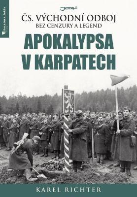 """Karel Richter: Apokalypsa v Karpatech. Pokud si chcete e-knihu vypůjčit, klikněte na název města, ve kterém se nachází vaše knihovna, v sekci """"Vyhledat e-knihu v knihovně""""."""