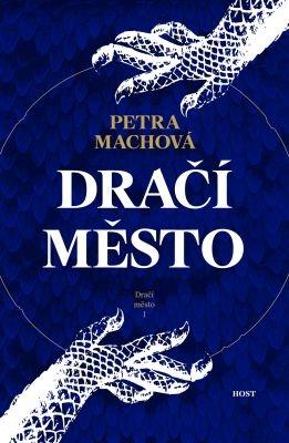 """Petra Machová: Dračí město. Pokud si chcete e-knihu vypůjčit, klikněte na název města, ve kterém se nachází vaše knihovna, v sekci """"Vyhledat e-knihu v knihovně""""."""
