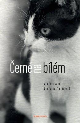 """Miriam Šumníková: Černé na bílém. Pokud si chcete e-knihu vypůjčit, klikněte na název města, ve kterém se nachází vaše knihovna, v sekci """"Vyhledat e-knihu v knihovně""""."""