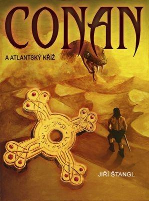 """Jiří Štangl: Conan a atlantský kříž. Pokud si chcete e-knihu vypůjčit, klikněte na název města, ve kterém se nachází vaše knihovna, v sekci """"Vyhledat e-knihu v knihovně""""."""