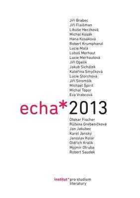"""Eva Jelínková (ed.), Michael Špirit (ed.): Echa 2013. Pokud si chcete e-knihu vypůjčit, klikněte na název města, ve kterém se nachází vaše knihovna, v sekci """"Vyhledat e-knihu v knihovně""""."""