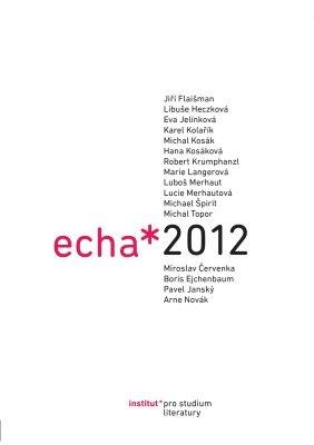 """Michael Špirit (ed.), Eva Jelínková (ed.): Echa 2012. Pokud si chcete e-knihu vypůjčit, klikněte na název města, ve kterém se nachází vaše knihovna, v sekci """"Vyhledat e-knihu v knihovně""""."""