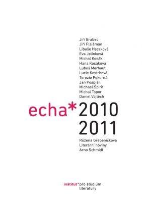 """Eva Jelínková (ed.), Michael Špirit (ed.): Echa 2010–2011. Pokud si chcete e-knihu vypůjčit, klikněte na název města, ve kterém se nachází vaše knihovna, v sekci """"Vyhledat e-knihu v knihovně""""."""