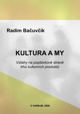 """Radim Bačuvčík: Kultura a my. Pokud si chcete e-knihu vypůjčit, klikněte na název města, ve kterém se nachází vaše knihovna, v sekci """"Vyhledat e-knihu v knihovně""""."""