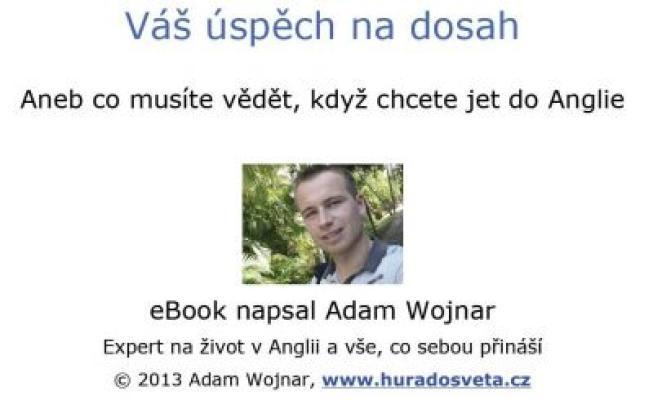 """Adam Wojnar: Váš úspěch na dosah. Pokud si chcete e-knihu vypůjčit, klikněte na název města, ve kterém se nachází vaše knihovna, v sekci """"Vyhledat e-knihu v knihovně""""."""