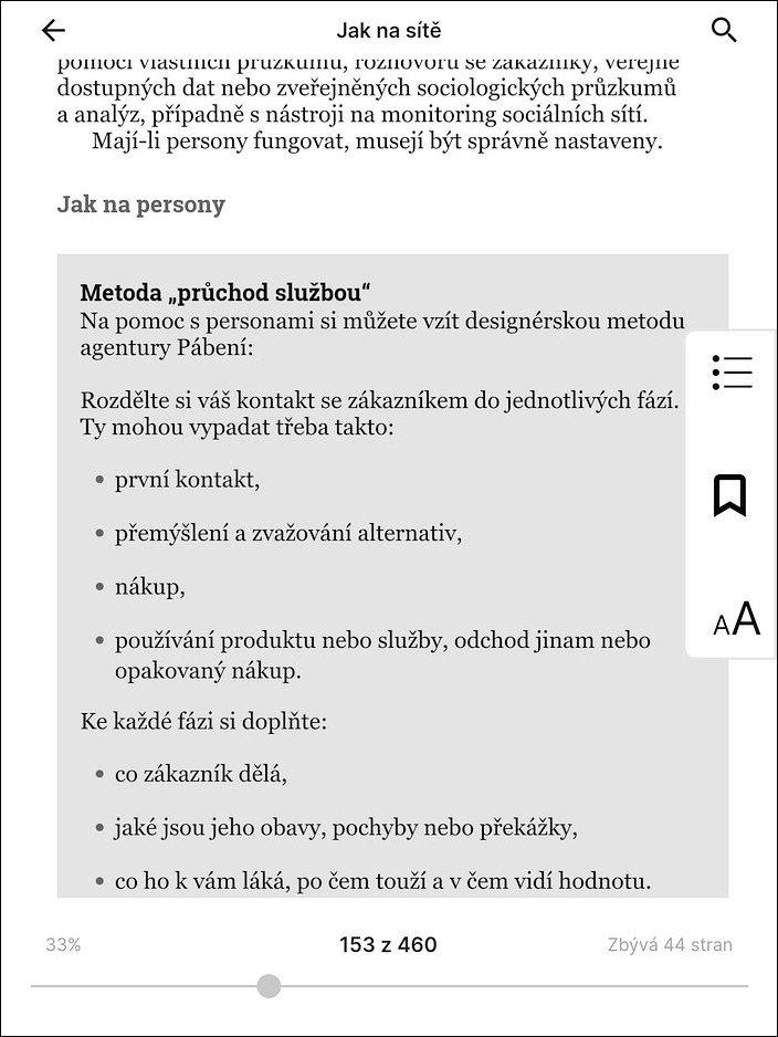 Mobilní aplikace Palmknihy ve verzi pro Android
